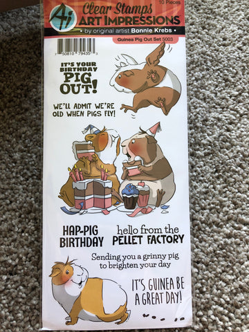 GUINEA PIG OUT - ART IMPRESSIONS CLEAR STAMPS BY BONNIE KREBS