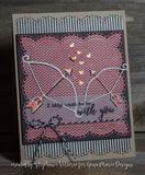 PETITE LOOPED LACE SQUARE DIE SET - Gina Marie Designs