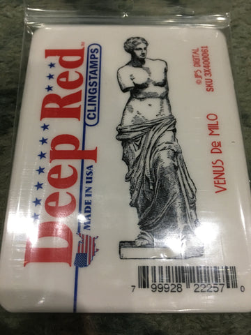 VENUS DE MILO - DEEP RED RUBBER STAMPS