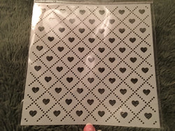 HEART ARGYLE BACKGROUND PATTERNED STENCIL - Gina Marie Designs