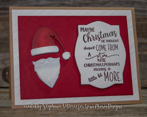 SANTA HAT AND BEARD DIE SET - Gina Marie Designs
