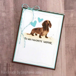 WEINER DOG LAYERED STAMP AND SENTIMENT SET - Gina Marie Designs