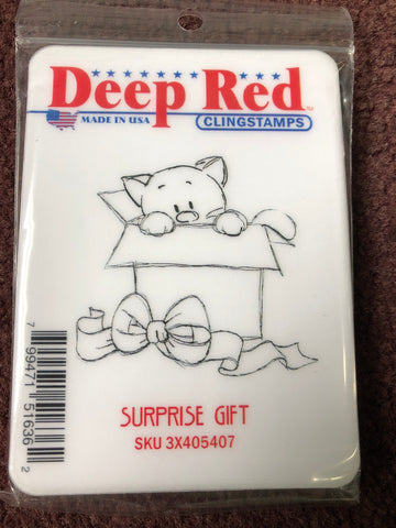 SURPRISE GIFT - DEEP RED RUBBER STAMPS