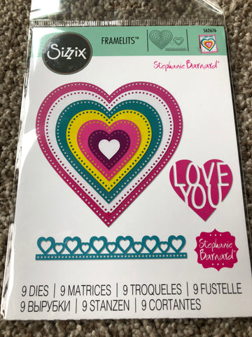 SIZZIX DIE SET THINLITS STEPHANIE BARNARD - DOTTED HEARTS