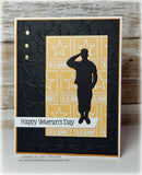 SALUTING SOLDIER MILITARY DIE - Gina Marie Designs