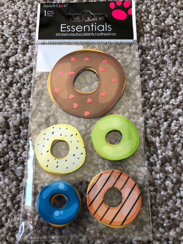 GLAZED DONUTS - SANDYLION ESSENTIALS 3D STICKERS