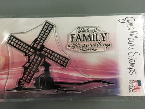 WINDMILL STAMP SET - Gina Marie Designs