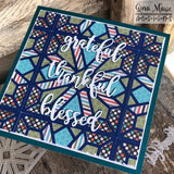 DIAMOND DROP 4x4 STITCHED QUILT DIE - Gina Marie Designs