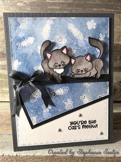 CUTE KITTY CAT STAMP SET - Gina Marie Designs