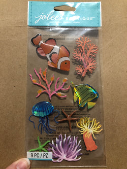 SEA ANEMONE - Jolee's Boutique Stickers