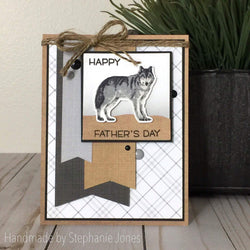 WOLF LAYERED STAMP AND SENTIMENT SET - Gina Marie Designs