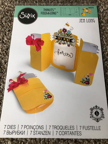 SIZZIX FOLD A LONGS DIE SET - CANNING JAR