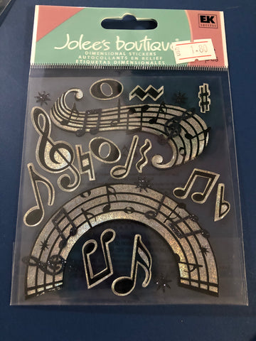 MUSIC NOTES  - Jolee's Boutique Stickers