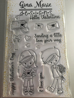 VALENTINE MAIL STAMP SET - Gina Marie Designs