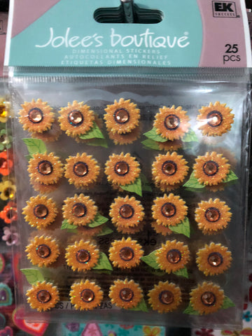 SUNFLOWER REPEATS - Jolees boutique stickers