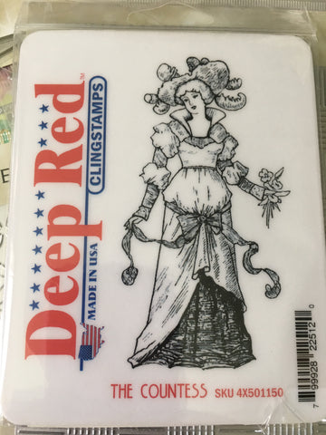 THE COUNTESS - DEEP RED RUBBER STAMPS