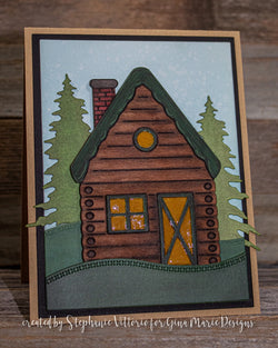 LOG CABIN DIE SET - Gina Marie Designs