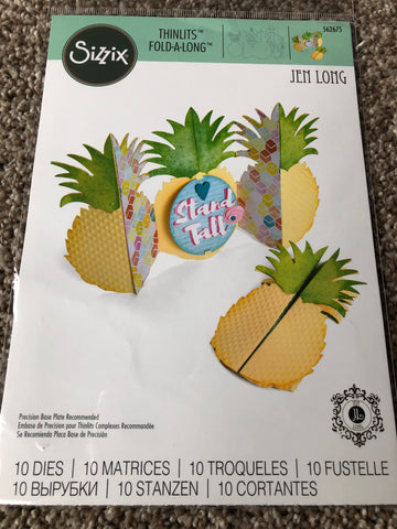SIZZIX THINLITS FOLD A LONG - PINEAPPLE
