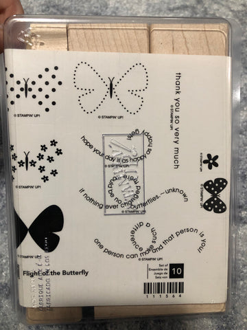 FLIGHT OF THE BUTTERFLY- STAMPIN UP STAMP SET
