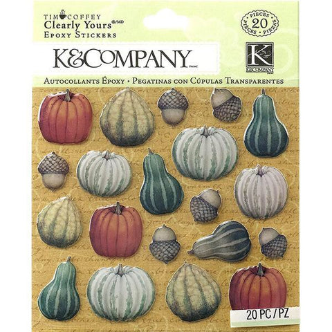 K & COMPANY ENAMEL STICKERS - PUMPKINS AND GOURDS