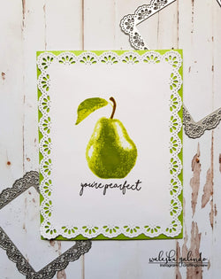 LAYERED PEAR STAMP SET - Gina Marie Designs