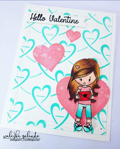 LOOPED HEART CHAIN STENCIL - Gina Marie Designs