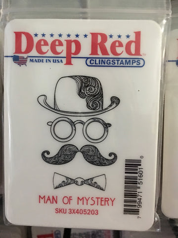 MAN OF MYSTERY - DEEP RED RUBBER STAMPS