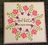 THOUGHTFUL SENTIMENTS WITH FLOWERS STAMP SET - Gina Marie Designs
