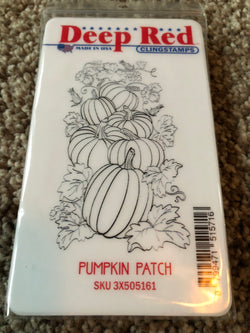 PUMPKIN PATCH - DEEP RED RUBBER STAMPS