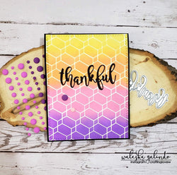CHAINED HEXAGONS 6x6 STENCIL - Gina Marie Designs