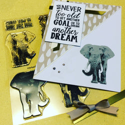 LAYERED ELEPHANT stamp set - Gina Marie Designs