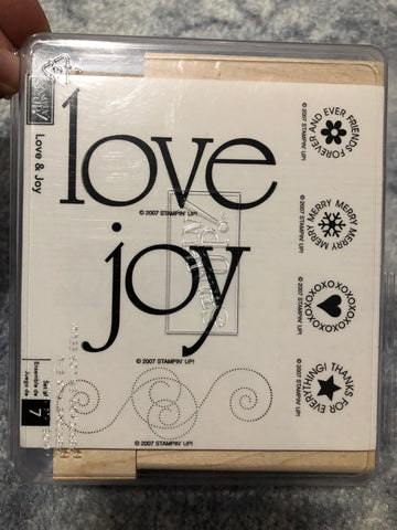 LOVE & JOY - STAMPIN UP STAMP SET