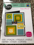 SIZZIX DIE SET THINLITS STEPHANIE BARNARD - DOTTED SQUARES