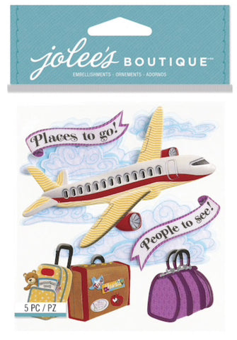 THICK STYLE AIRPLANE - Jolee's Boutique Stickers