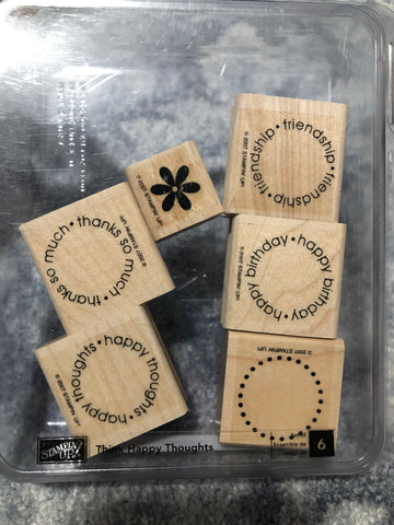 THINK HAPPY THOUGHTS - STAMPIN UP STAMP SET