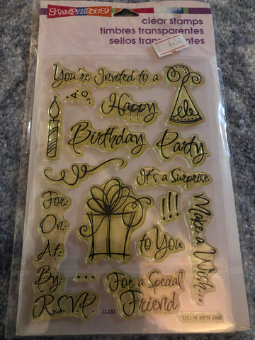 PARTY INVITE - STAMPENDOUS CLEAR STAMPS