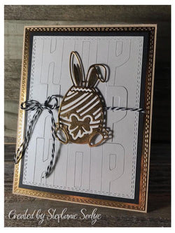 BUNNY IN EGG EASTER DIE - Gina Marie Designs