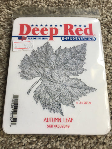 AUTUMN LEAF - DEEP RED RUBBER STAMPS