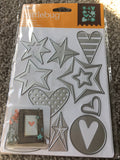 STARS AND HEARTS DIE SET - CRICUT CUTTLEBUG