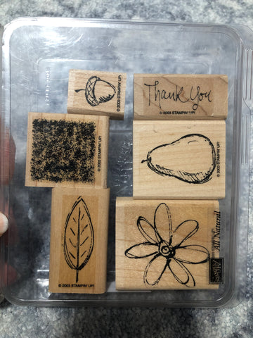 ALL NATURAL - STAMPIN UP STAMP SET
