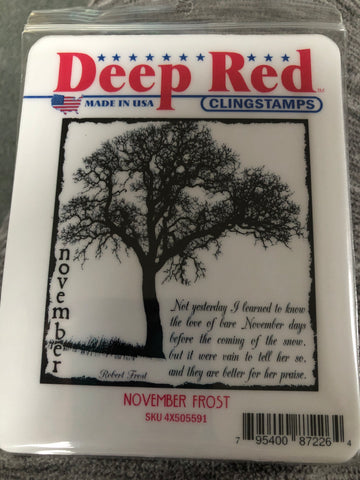 NOVEMBER FROST DEEP RED RUBBER STAMPS