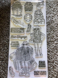 PACK YOUR BAGS - ART IMPRESSIONS CLEAR STAMPS BY BONNIE KREBS