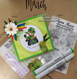 LUCKY LEPRECHAUN STAMP SET - Gina Marie Designs