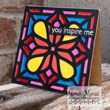 STAINED GLASS 4x4 BLOCK DIE - GINA MARIE DESIGNS