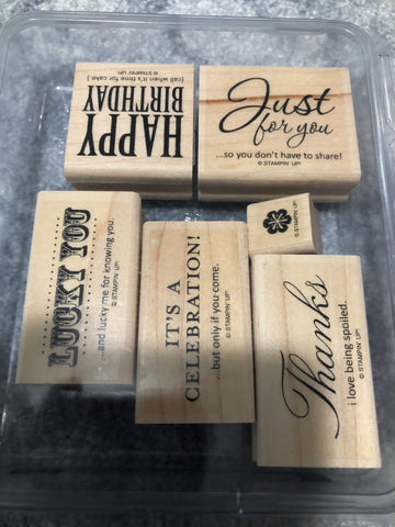 AFTERTHOUGHTS - STAMPIN UP STAMP SET