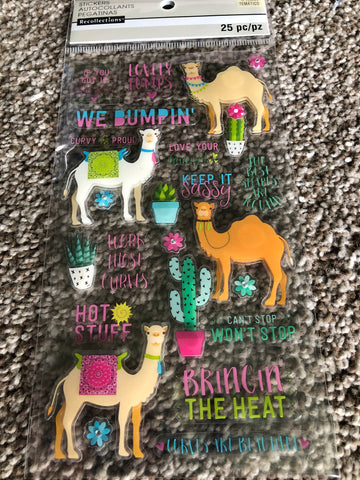 LLAMA FUN - RECOLLECTIONS STICKERS