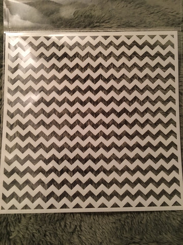 TIGHT CHEVRON 6x6 STENCIL - Gina Marie Designs
