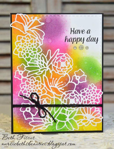 LARGE FLOWER CORNER SILHOUETTE - Gina Marie Designs
