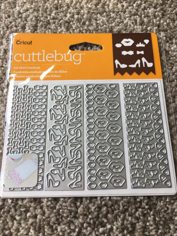 ALL GIRL CONFETTI DIE SET - CRICUT CUTTLEBUG