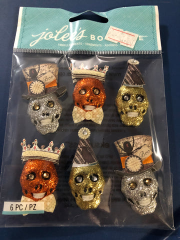 GLITTER SKULLS - Jolee's Boutique Stickers